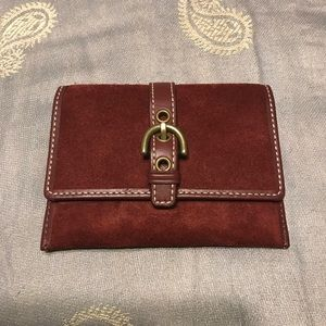 Coach suede card holder